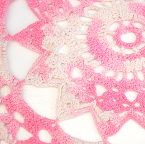 Vintage Crochet Doilies / Table Cloths - Fantastic Colours