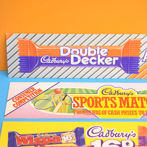 Vintage 1990s Cadbury's Chocolate Advertising Signs