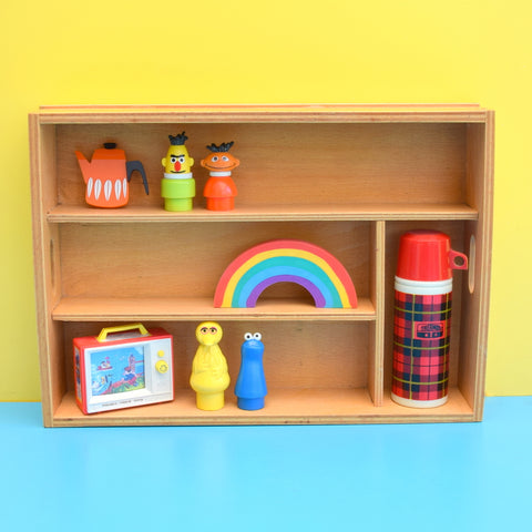 Vintage 1970s Wooden Ply Display Unit - Miniature Collections