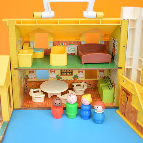 Vintage 1970s Fisher Price Yellow House - Plus Bits .