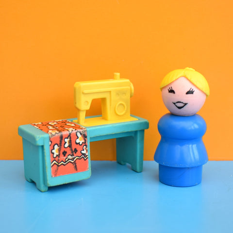 Vintage 1970s Fisher Price Sewing Machine Table / Lady