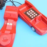 Vintage 1990s Car Shaped Home Phone - Fully Working - Red Ferrari