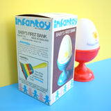 Vintage 1970s Plastic - Casdon - Hard Boiled Egg Shaped Money Box / Bank - Boxed & Unused - Red