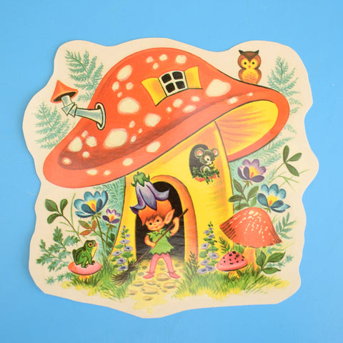 Vintage 1960s Water Slide Decal - Toadstool Pixie House