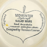 Vintage 1950s Kitsch Midwinter Salad Ware / Zambesi & Red Domino Pieces