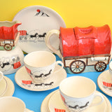 Vintage 1950s Kitsch Alfred Meakin Covered Waggon / Wagon China