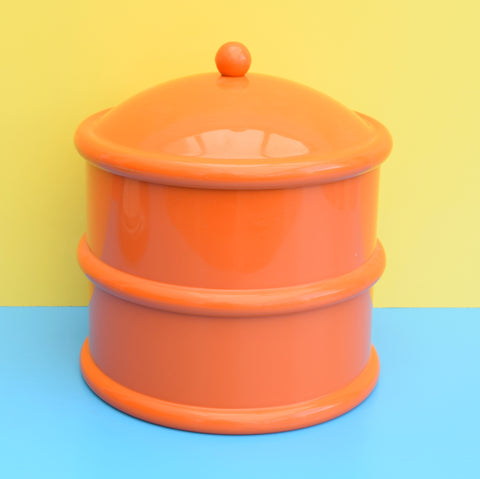 Vintage 1970s Stacking Plastic Cake Tin - Working Kitchen- Habitat - Orange