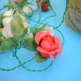 Vintage 1950s Dazlite Plastic Rose String Lights - Boxed - Decorative