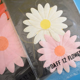 Vintage 1960s Takahashi Paper Large Dazy Flowers Gift Tags - Multi Colour