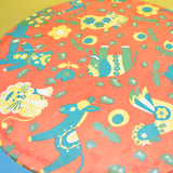 Vintage 1960s Children's Tulip Based Table - Red Animal Print