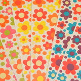 Vintage 1970s Sticker Sheets - Stickerations By Takahashi - Flower Design - Various Colours