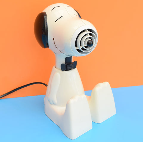 Vintage 1980s kitsch Snoopy Hair Dryer - Working