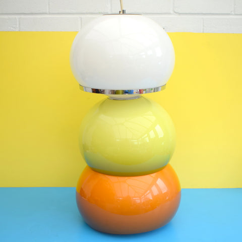 Vintage 1970s Mushroom Light Shade - Guzzini - Lime Green, White Or Orange (Rise & Fall)