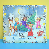Vintage 1970s Kitsch Christmas Advent Calendar - Danish - 3D