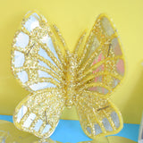 Vintage 1960s Foil Flowers / Plastic Butterflies / Ribbon / Gift Tags Christmas Parcel Wrapping