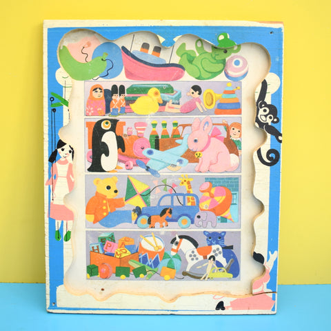 Vintage 1960s Wooden Jigsaw Puzzle - Unknown Maker - Toy Cupboard