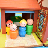 Vintage 1960s Fisher Price Tudor House - Dolls House - With Some Accessories