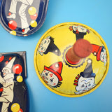 Vintage 1950s Tin Noise Makers - Clowns - American x5