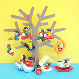Vintage 1960s Mixed Wooden Christmas Decorations