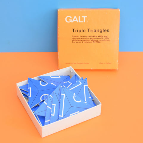 Vintage 1960s Triple Triangles Puzzle - by Galt