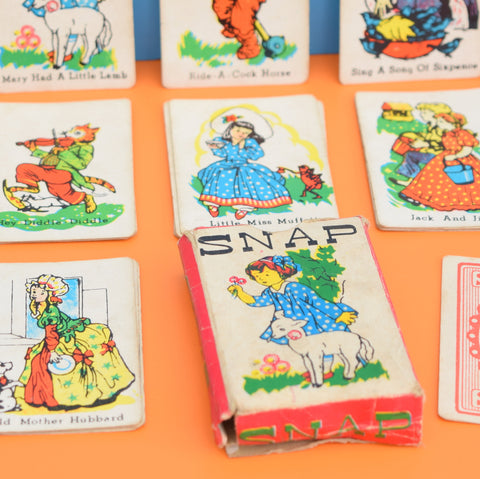 Vintage 1960s Snap Card Game - Fantastic Nursery Rhyme Images - Ideal For Framing