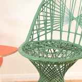 Vintage Fibreglass Strand Chair - Russell Woodard - Dark Green