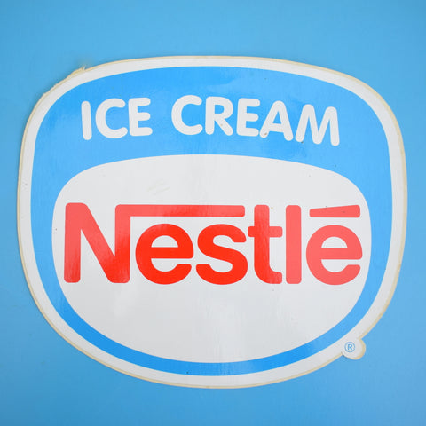Vintage 1970s Nestle Ice Cream Large Sticker - Red, White & Blue