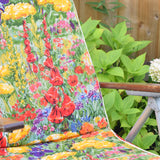 Vintage 1960s Garden Sun Lounger - Meadow / Cottage Garden Flowers
