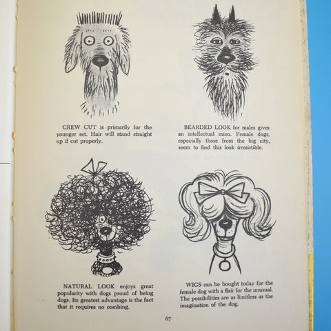 Vintage 1960s How To Live With A Neurotic Dog Book - Lovely Illustrations