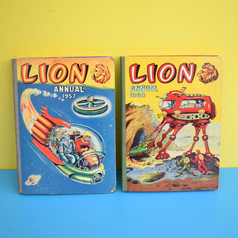 Vintage 1950s Lion Annual - Lovely Illustrations - Space Themes