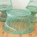 Vintage Fibreglass Strand Chairs & Side Table - Russell Woodard - Pale Green