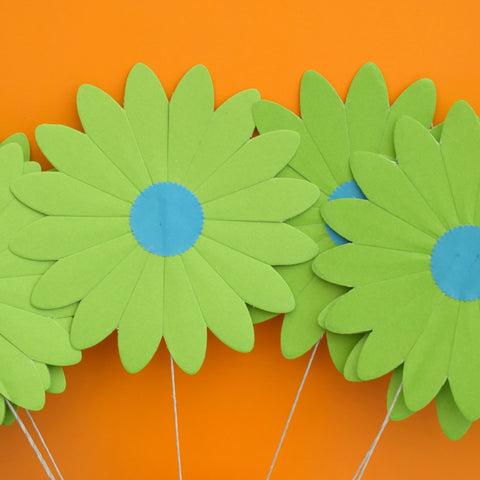 Vintage 1960s Takahashi Paper Large Daisy Flowers