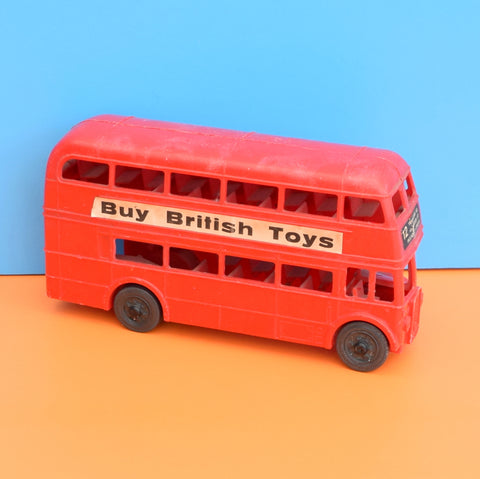 Vintage 1960s kitsch Plastic London Bus - Classic Red