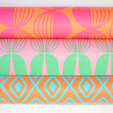 Retro Wrapping Paper from the Netherlands by Eva & Anna, Pink, Green, Blue, Orange
