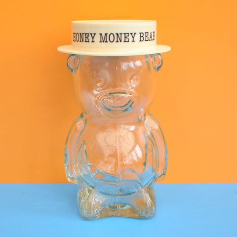 Vintage 1970s Plastic Money Box - Honey Money Bear