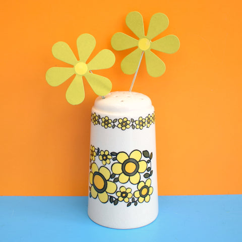 Vintage 1960s Taunton Vale Sifter - Flower Power - Yellow