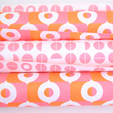 Retro Wrapping Paper from the Netherlands by Eva & Anna, Pink, Orange