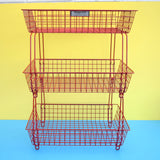 Vintage 1950s Wire Desk Filing / Vegetable Rack - Beanstalk - Red .