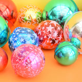Vintage 1970s Shatterproof / Very Light WeightPlastic Christmas Baubles / Decorations - Mixed Colours