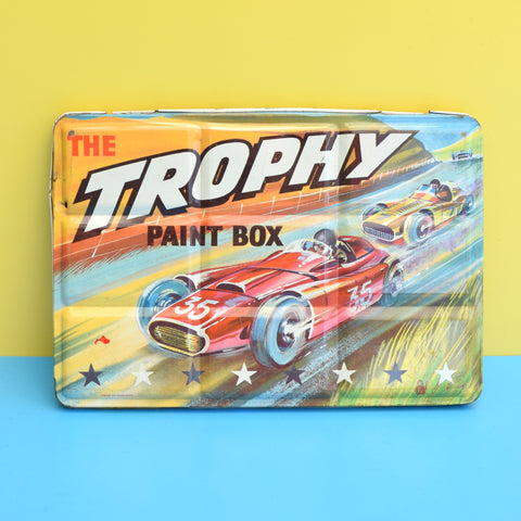 Vintage 1960s Set Of Paints In Tin - Trophy Car Racing