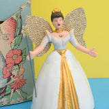 Vintage 1950s Welso Toys Mechanical Fairy Queen Kitsch Figure - Boxed