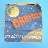 Vintage 1960s Orbitoy Satellite Space Spinner UFO Tin Plate Toy (Boxed)
