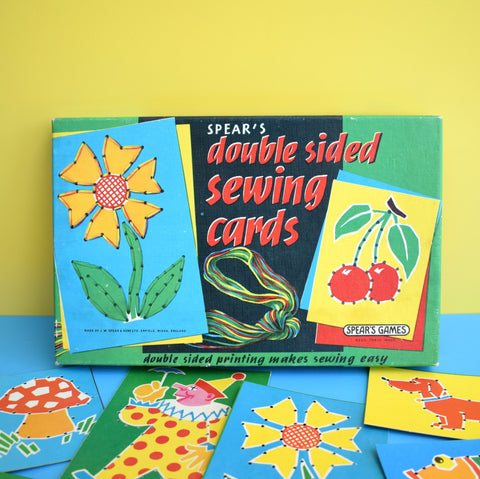 Vintage 1960s Double Sided Sewing Cards - Great Graphics