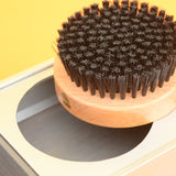 Vintage 1960s Clothes / Shoe Brush & Compartment - Wood / Aluminium - Design Centre Award - Artifact Design