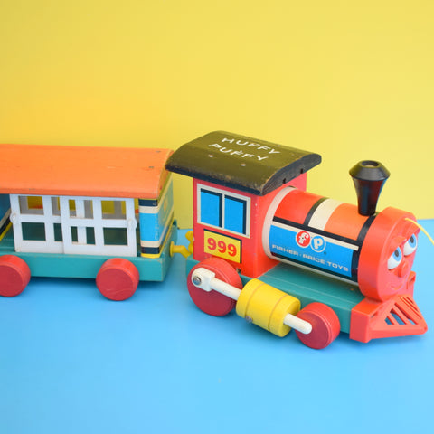 Vintage 1960s Fisher Price - Huffy Puffy Train - Wooden