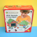 Vintage 1970s Dick Bruna Sunny Farm Toy With Animals - Boxed