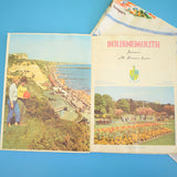 Vintage 1950s Bournemouth Tourist Brochure & Cotton Table Cloth - Souvenir