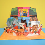 Vintage 1960s Pop Up Diorama / Book - Circus - Elephant , Clowns , Tightrope