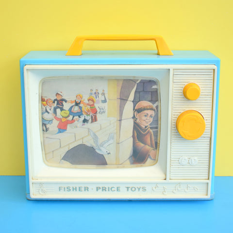 Vintage 1960s Fisher Price Giant Screen Music Box Tv - On The Bridge Of Avingon / Frere Jacques