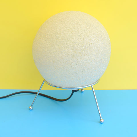 Vintage 1990s Plastic / Metal Lamp - Atomic Ball